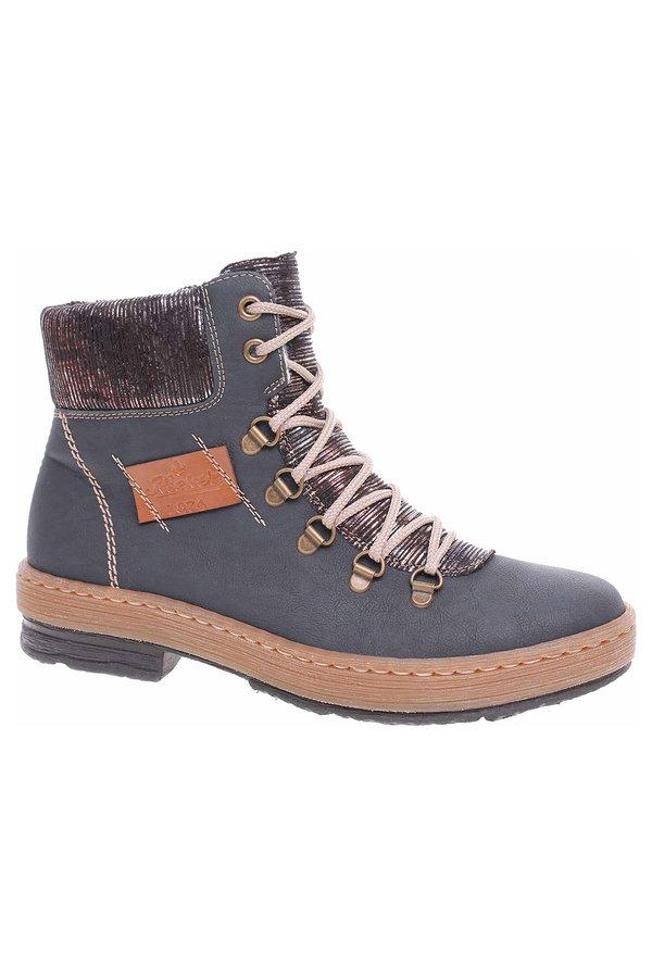 Modré dámské kotníkové boty Rieker
