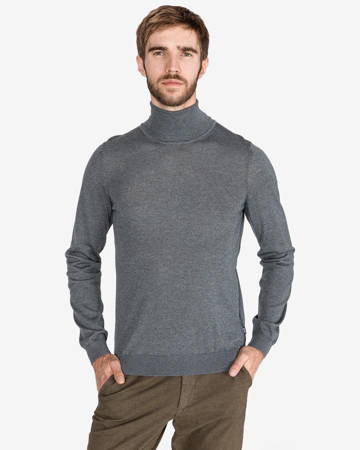 Šedý pánský svetr Hugo Boss