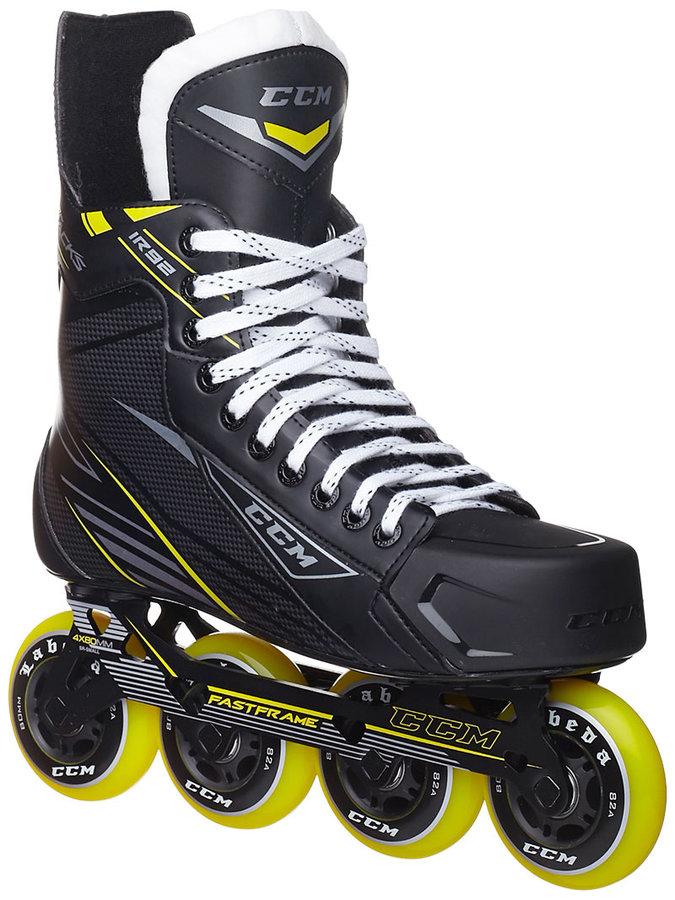 Černé rekreační brusle na in-line hokej CCM - velikost 35 EU