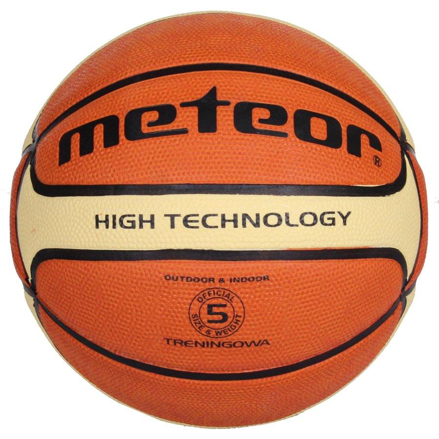Oranžový basketbalový míč Training, Meteor - velikost 5