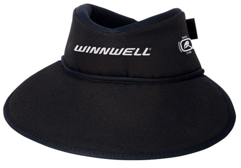 Černý hokejový nákrčník - senior Winnwell - velikost L