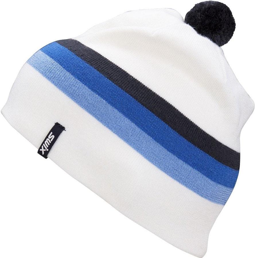 Bílo-modrá běžecká čepice Swix - univerzální velikost