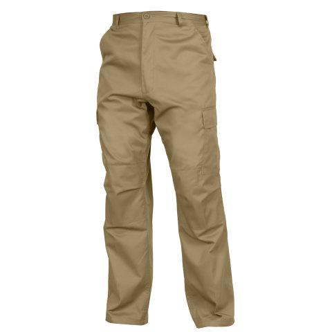 Kalhoty - Kalhoty BDU RELAXED ZIPPER FLY KHAKI