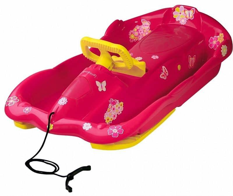 Růžové dětské boby s volantem AlpenGaudi