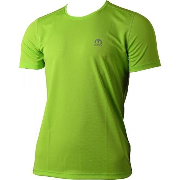 Zelené pánské běžecké tričko Mico