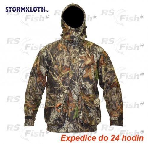 Hnědo-zelená rybářská bunda Stormkloth - velikost L