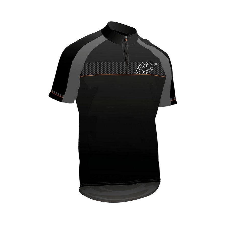 Černo-oranžový pánský nebo dámský cyklistický dres Kellys