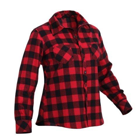 Černo-červená dámská košile s dlouhým rukávem ROTHCO