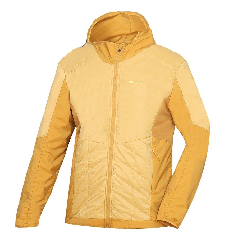 Žlutá pánská turistická bunda Husky - velikost L