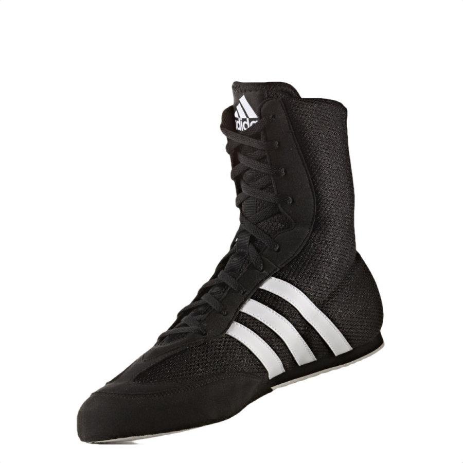 Černo-šedé boxerské boty Box Hog 2, Adidas - velikost 40,5 EU