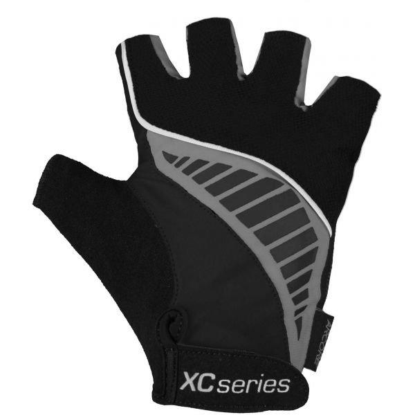 Černo-šedé cyklistické rukavice Arcore - velikost S