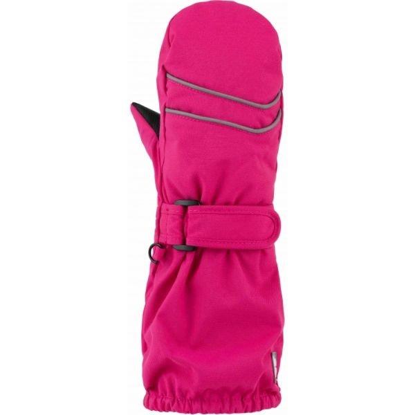 Růžové dívčí zimní rukavice Loap