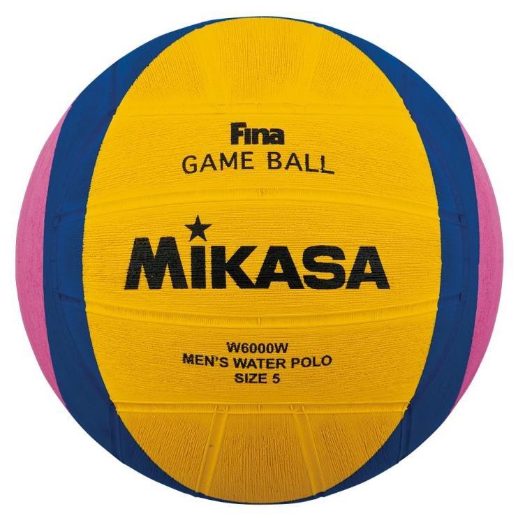 Různobarevný míč na vodní pólo pro muže FINA W6000W, Mikasa - velikost 5