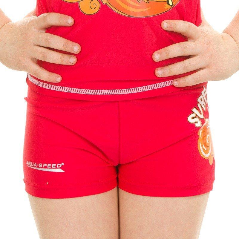 Červené dětské dívčí koupací kraťasy Surf Club, Aqua-Speed - velikost 5