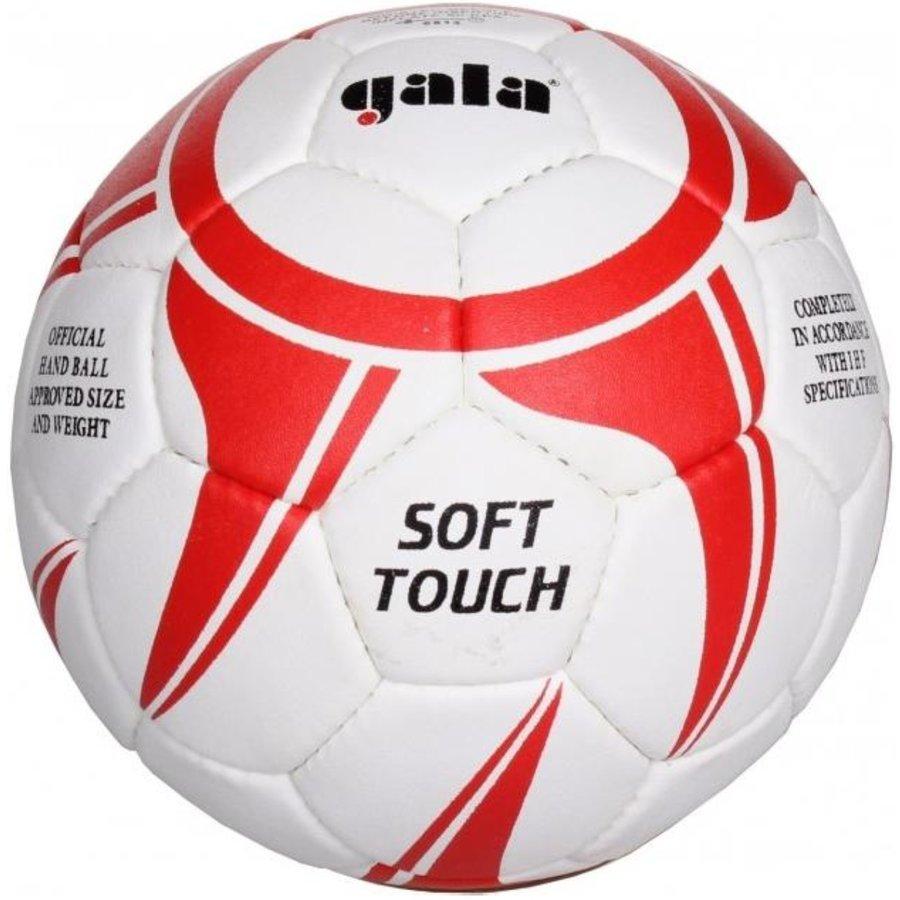 Bílo-červený míč na házenou Soft Touch 2043S, Gala - velikost 2