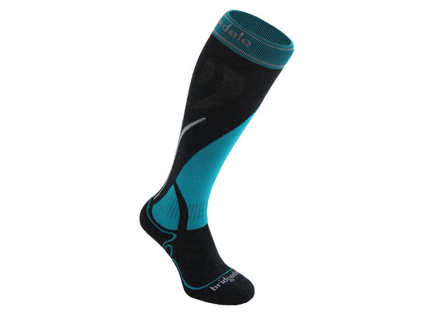 Černo-modré dámské lyžařské ponožky Bridgedale - velikost 41-43 EU