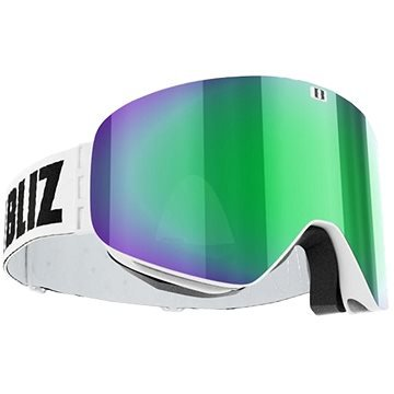 Lyžařské brýle - Bliz Flow - White - Brown w Green Multi (7318480069824)
