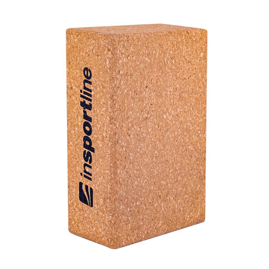 Hnědý jóga blok inSPORTline - délka 23 cm, šířka 15 cm a výška 7,5 cm