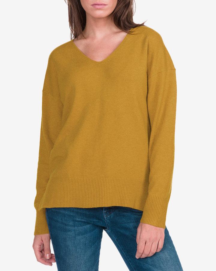 Žlutý dámský svetr French Connection