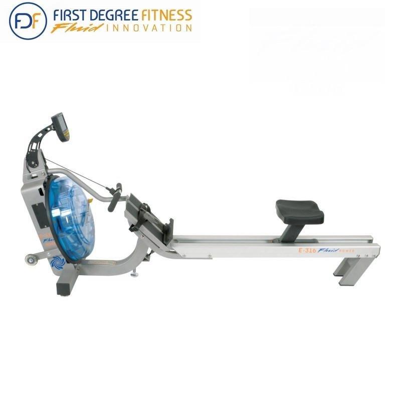 Veslovací trenažér Rower E316, First Degree - nosnost 135 kg