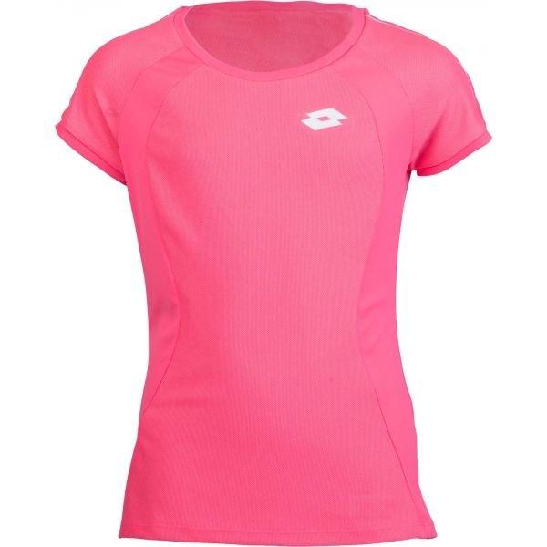 Růžové dívčí tenisové tričko Lotto - velikost XL