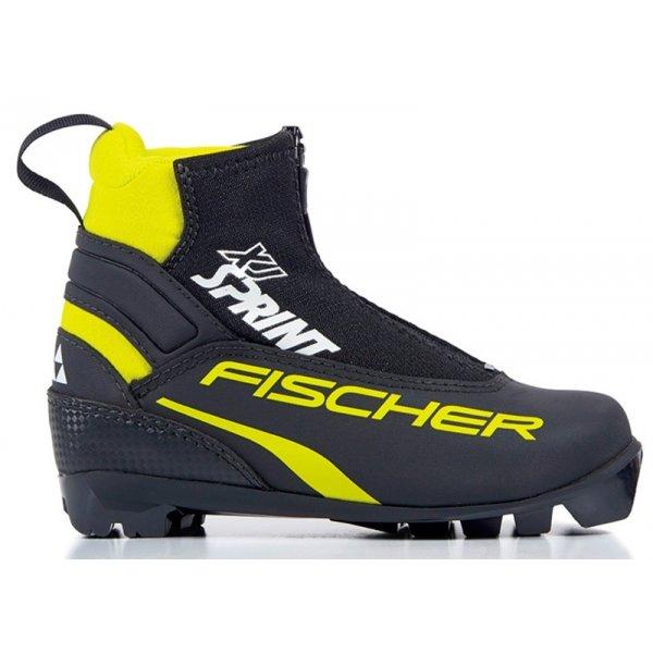 Černé dětské boty na běžky Fischer - velikost 36 EU
