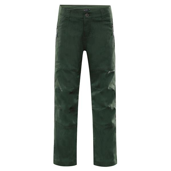 Zelené softshellové dětské kalhoty Alpine Pro