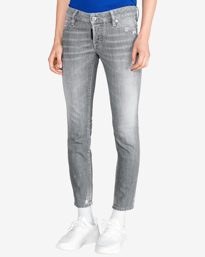 Šedé dámské džíny DSQUARED2