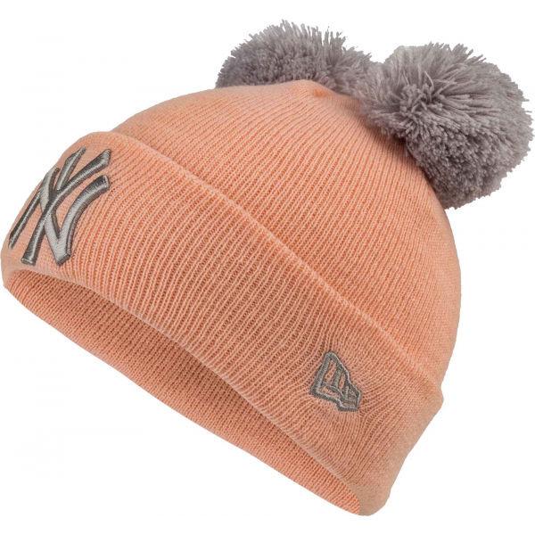 Oranžová dívčí zimní čepice New Era