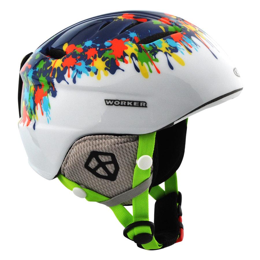 Bílo-modrá lyžařská helma Worker - velikost 48-50 cm