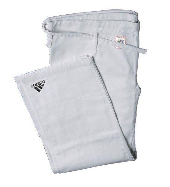 Bílé kalhoty na judo Adidas