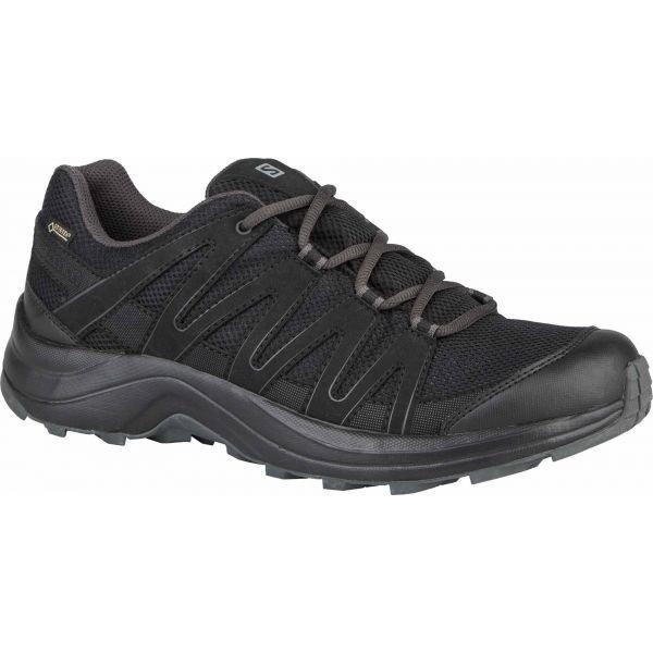 Černé voděodolné pánské trekové boty Salomon