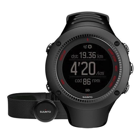 Černé digitální sportovní dámské hodinky Ambit3 Run (HR), Suunto