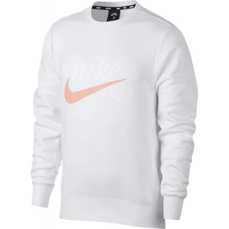 Bílá pánská mikina bez kapuce Nike