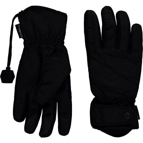 Černé dámské lyžařské rukavice O'Neill