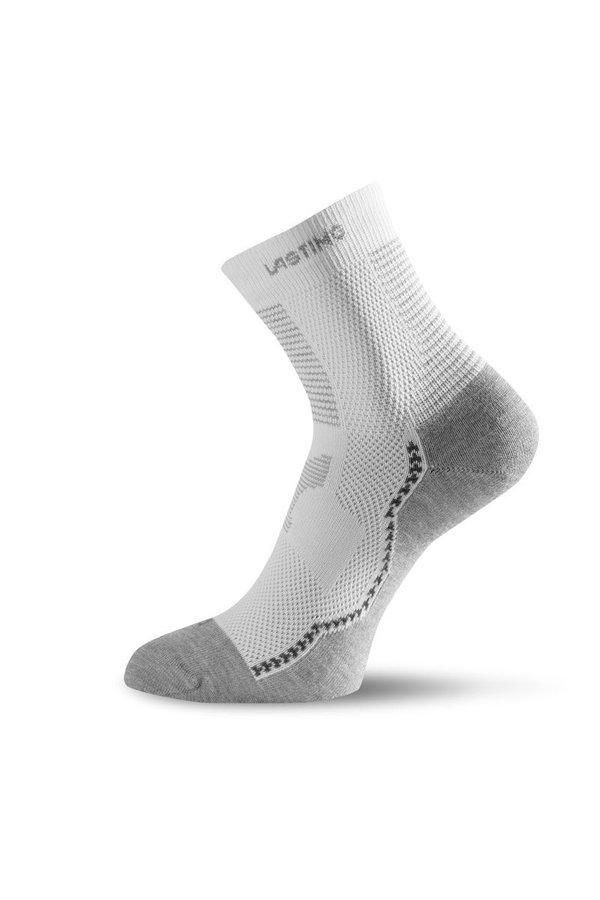 Bílé pánské trekové ponožky Lasting - velikost 42-45 EU