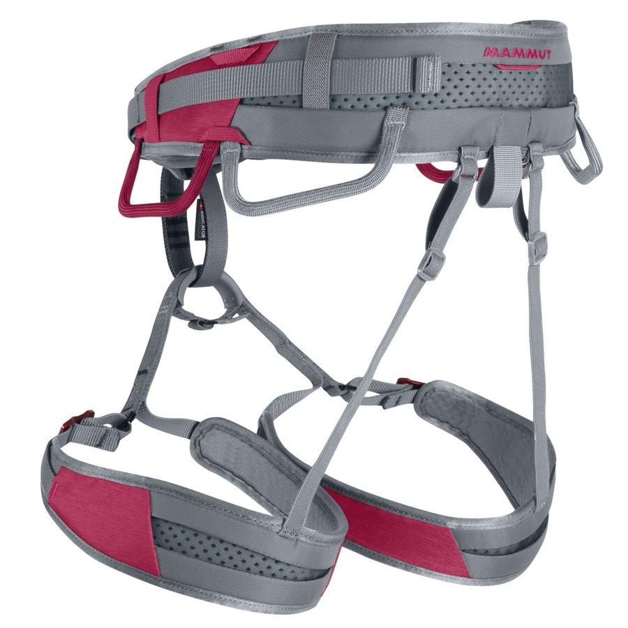 Červeno-šedý dámský horolezecký úvazek Ophir Speedfit, Mammut - velikost XS
