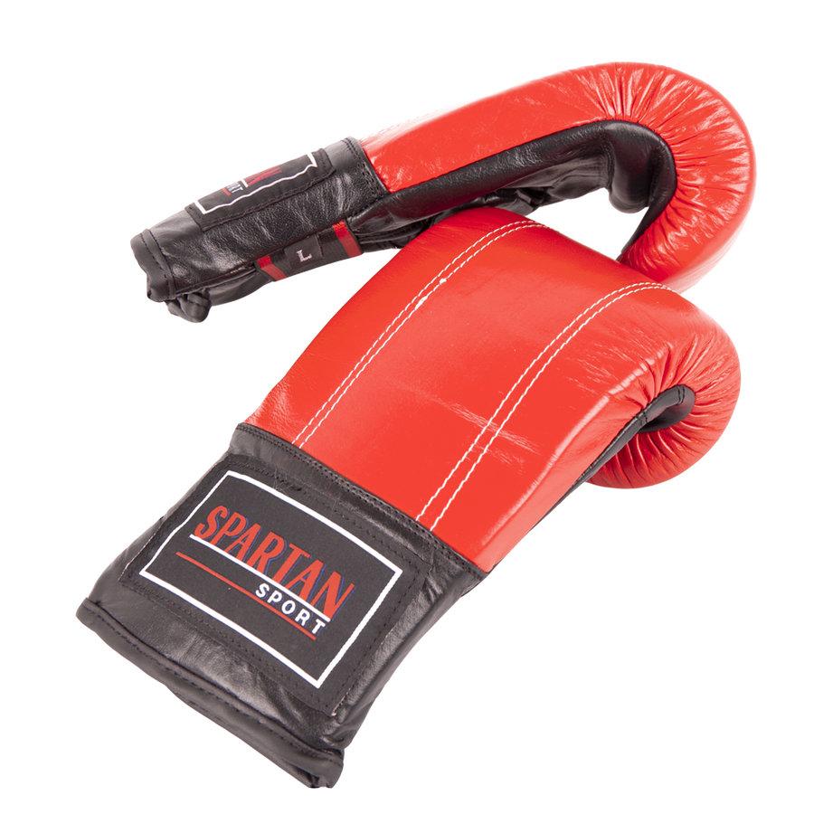 Červené boxerské rukavice Spartan - velikost L