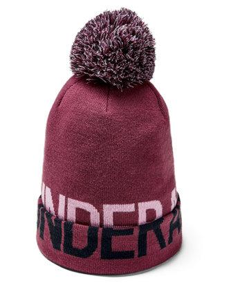 Červená dámská zimní čepice Under Armour