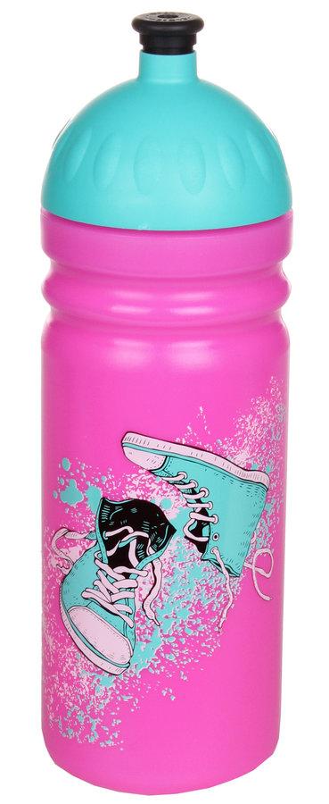 Růžová láhev na pití Zdravá lahev, R&B - objem 0,75 l