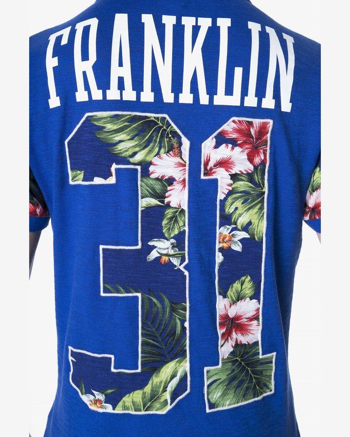 Modrá pánská polokošile s krátkým rukávem Franklin & Marshall - velikost XXL