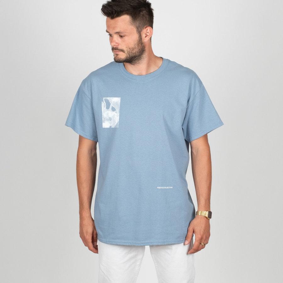 Modré pánské tričko s krátkým rukávem Poetic Collective - velikost M