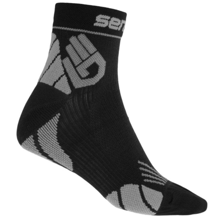 Černo-šedé vysoké pánské běžecké ponožky Marathon, Sensor - velikost 39-42 EU