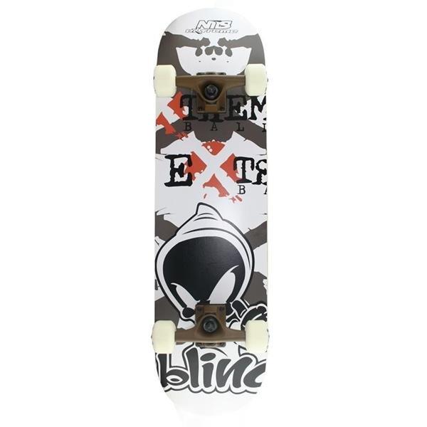 Bílo-černý skateboard Nils Extreme - nosnost 100 kg