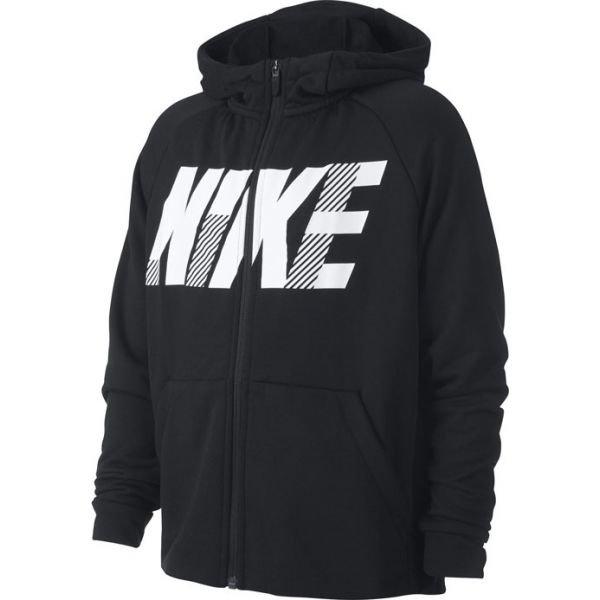 Černá chlapecká mikina s kapucí Nike