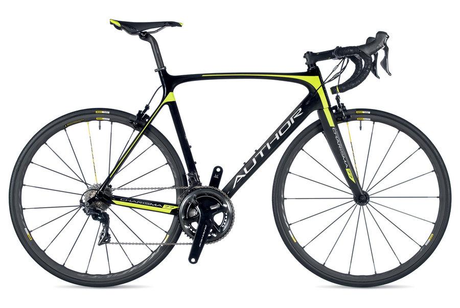 Žlutý, černý nebo černo-žlutý silniční pánský bicykl Author