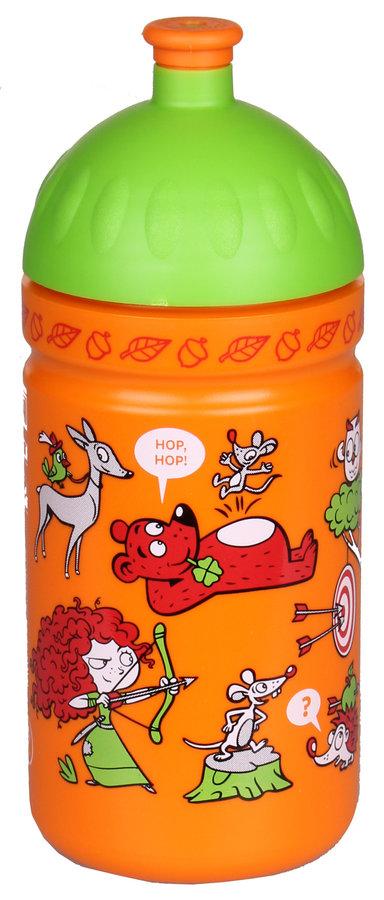 Oranžová láhev na pití Zdravá lahev, R&B - objem 0,5 l