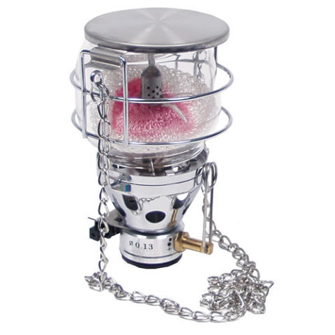 Stříbrná plynová lampa FOX Outdoor