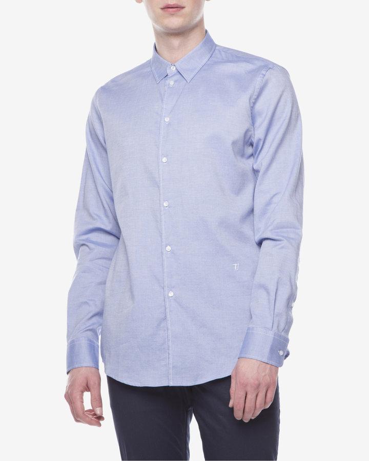 Modrá pánská košile s dlouhým rukávem Trussardi Jeans