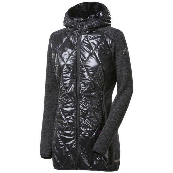 Černý prošívaný dámský kabát Progress